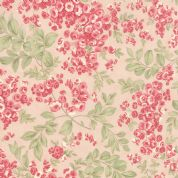 Moda Whitewashed Cottage by 3 Sisters - 3747 - Pink Trailing Roses - 44064 12 - Cotton Fabric